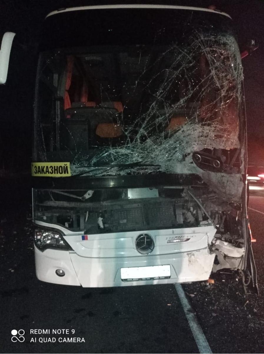 В ДТП с автобусом в Рязанской области пострадали два человека
