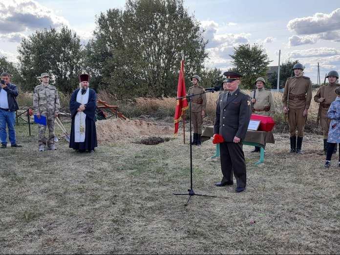 В Рязани захоронили останки солдата, погибшего 78 лет назад