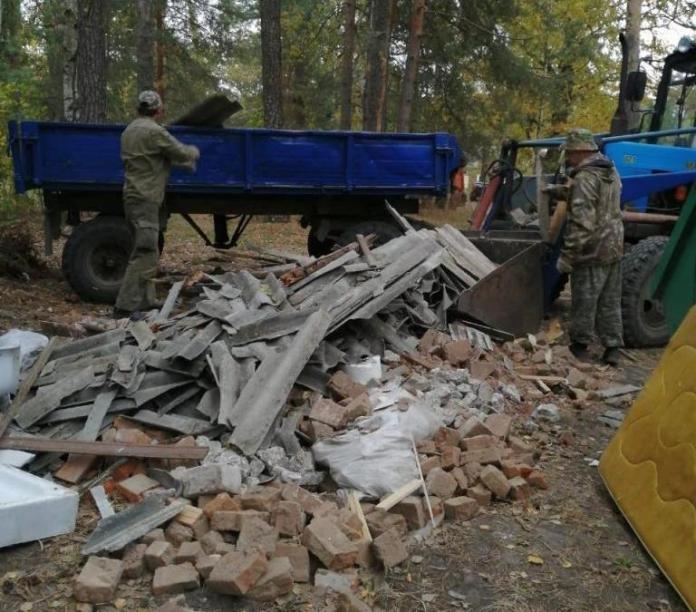 В Солотче ликвидировали несанкционированные свалки