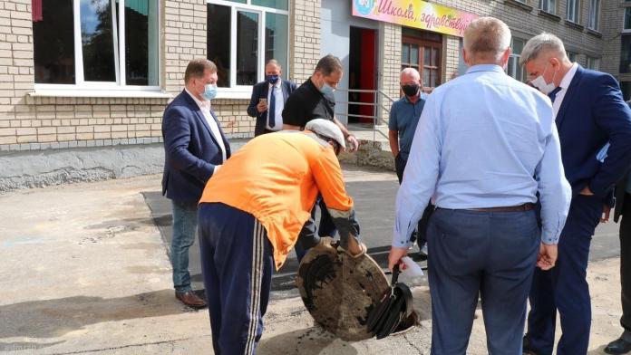 В Рязани подвал школы затопило горячей водой