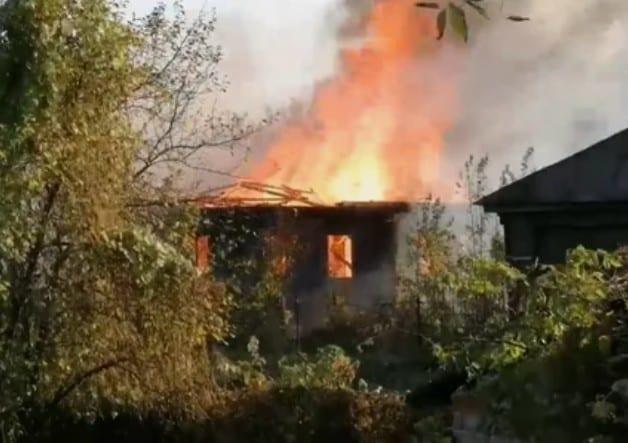 В городе Сасово произошёл крупный пожар