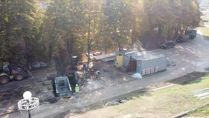 Появились фото с места работ по реконструкции Астраханского моста в Рязани