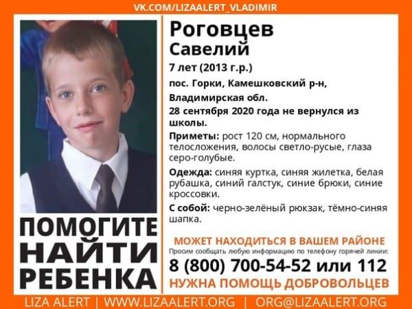Рязанцев просят помочь в поисках пропавшего ребёнка