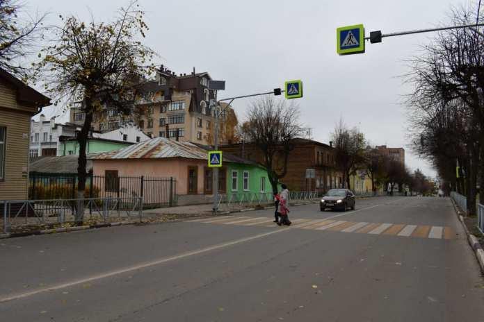 За год в Рязанской области оборудовали 123 пешеходных перехода