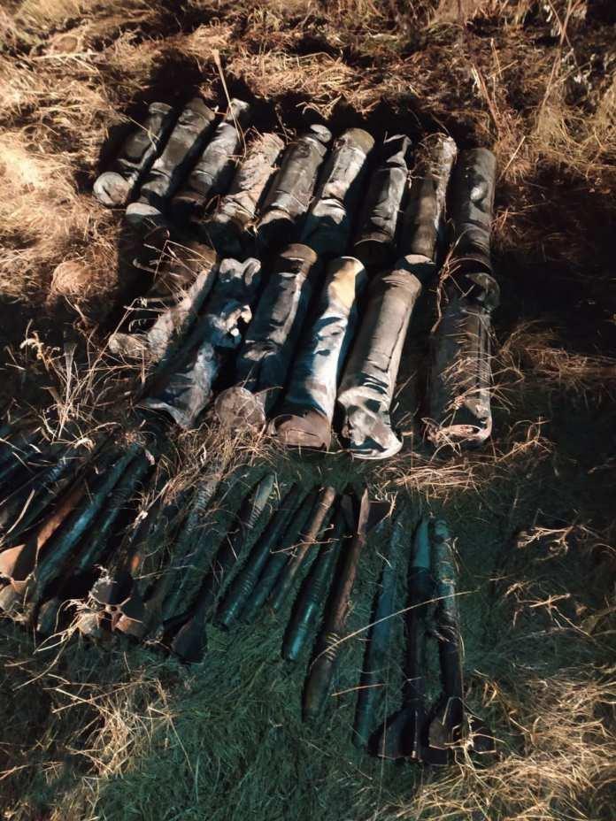 В Ряжском районе обнаружили фрагменты бронебойных снарядов