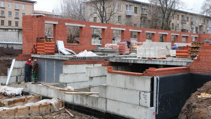 Сорокина проверила возведение пристройки к детсаду № 10 в Рязани
