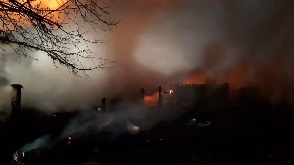 пожар в посёлке Ранние всходы Шацкого района