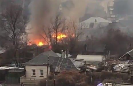 В Горроще в Рязани загорелся деревянный дом