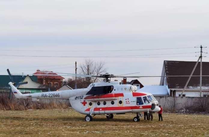 Вертолёт санавиации доставил в Рязань женщину с инсультом