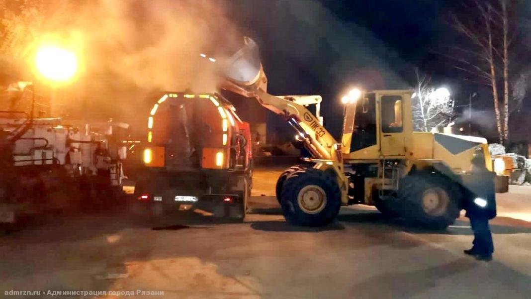 Зимой в Рязани продолжат ремонтировать дороги