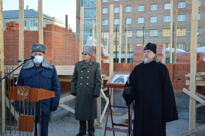 В Академии ФСИН России состоялась церемония закладки камня в основание нового храма