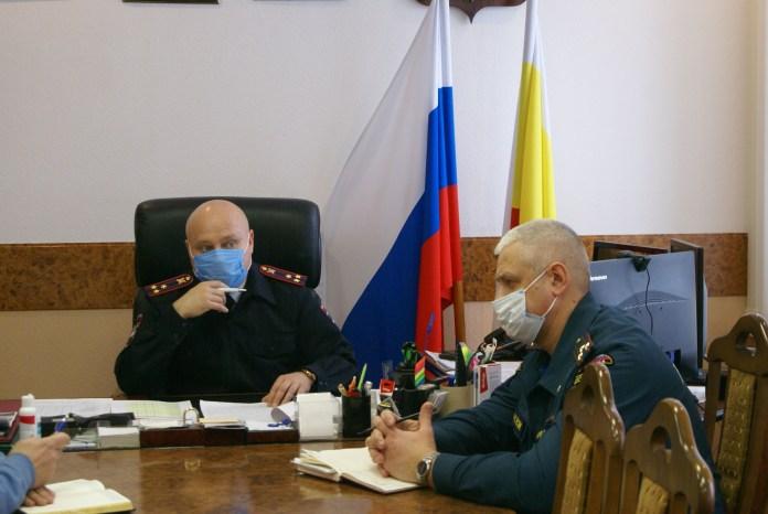 Из-за ухудшения погодных условий в рязанском УМВД провели экстренное совещание