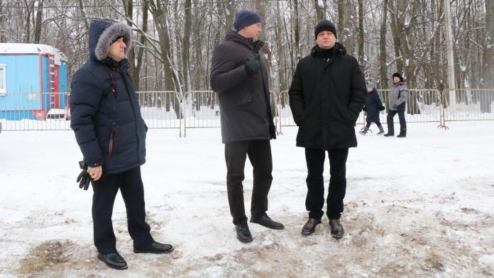 Для православных рязанцев оборудовали две крещенские купели на Ореховом озере