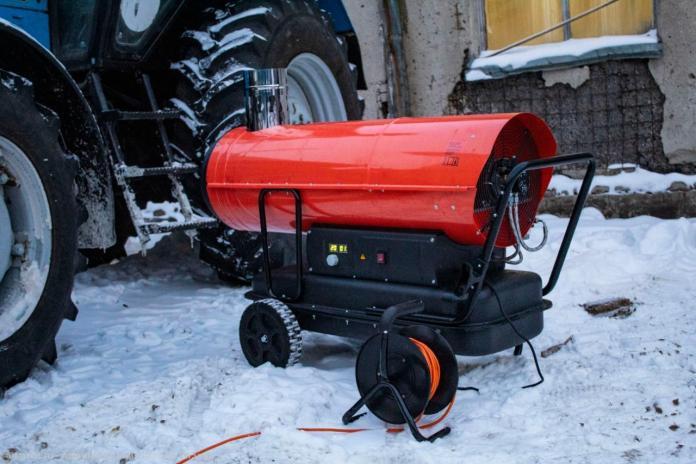 Для быстрого обогрева спецтехники в Рязани используют тепловые пушки
