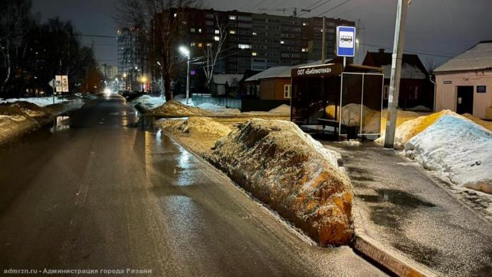 За ночь с улиц Рязани вывезли свыше 5 000 кубометров снега