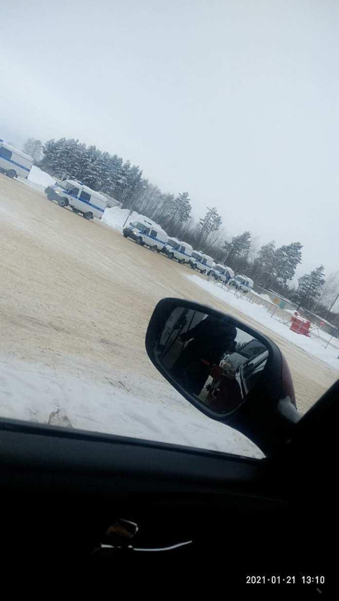 В Касимове заметили колонну полицейских машин