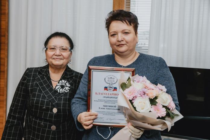 Сергей Неверов поблагодарил Елену Митину за активную работу в Думе