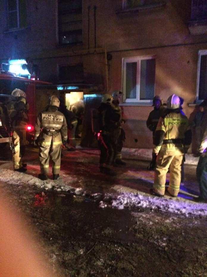 В квартире в рязанской горроще произошел пожар