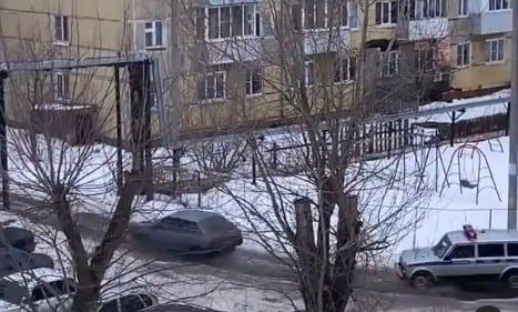 В Рязани попала на видео полицейская погоня