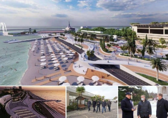 В Сочи сделают современной центральную набережную и построят два новых сквера