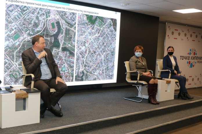 Мэр города Елена Сорокина представила проект сети велодорожек в Рязани