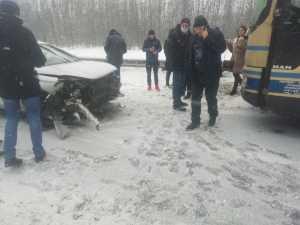 Автобус Скопин – Москва попал в жёсткое ДТП