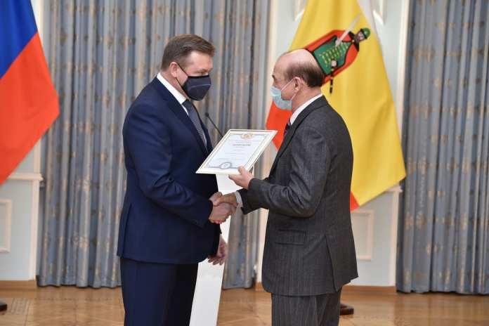 Николай Любимов наградил лучшие предприятия и организации Рязанской области