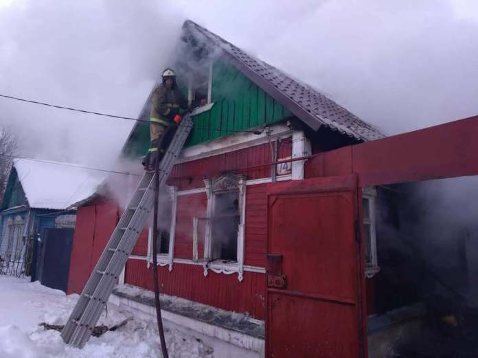 На пожаре в Скопине погибли два человека