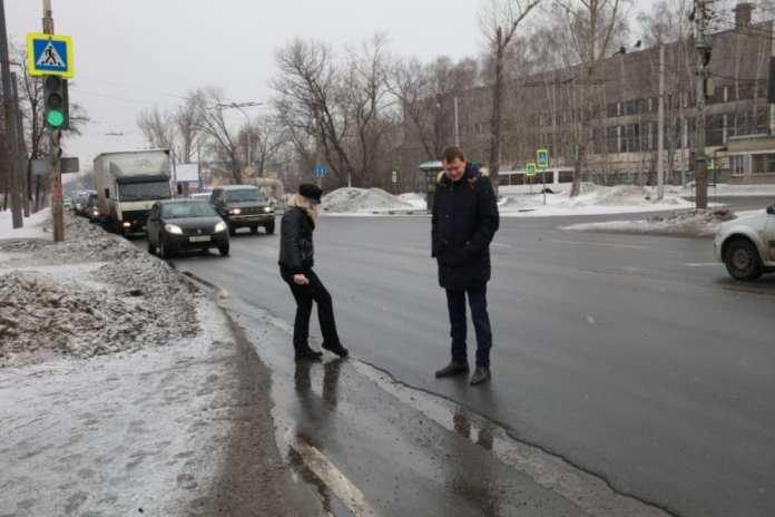 В Рязани обследовали гарантийные дороги Октябрьского района