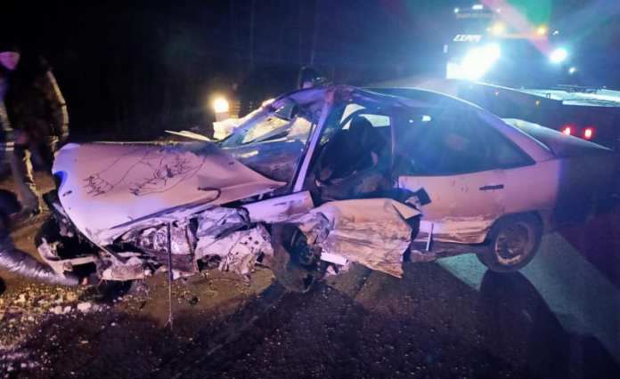 """Два человека пострадали в аварии """"Ауди"""" и """"Шевроле"""" в Ряжском районе"""