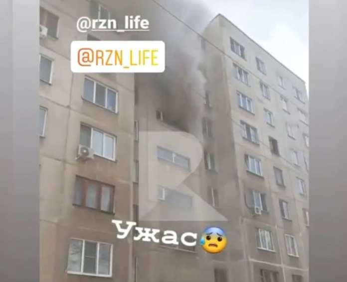 Женщина пострадала на пожаре на улице Советской Армии в Рязани