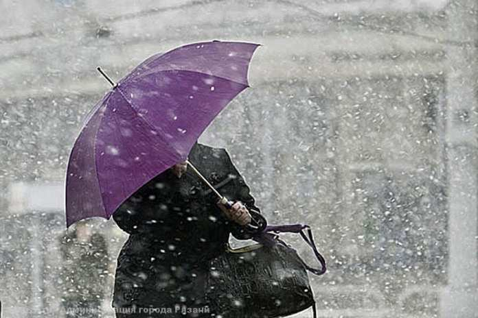 Рязанцев предупредили о снегопаде до конца суток