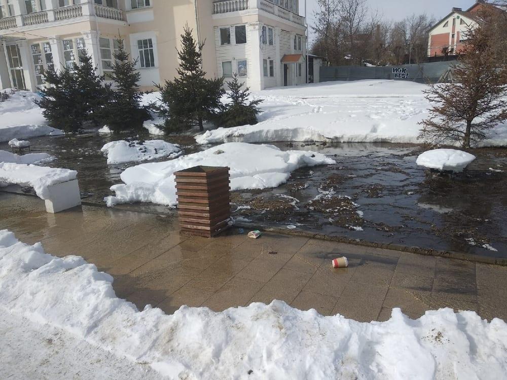 В администрации Рязани рассказали об «озере» на Лыбедском бульваре