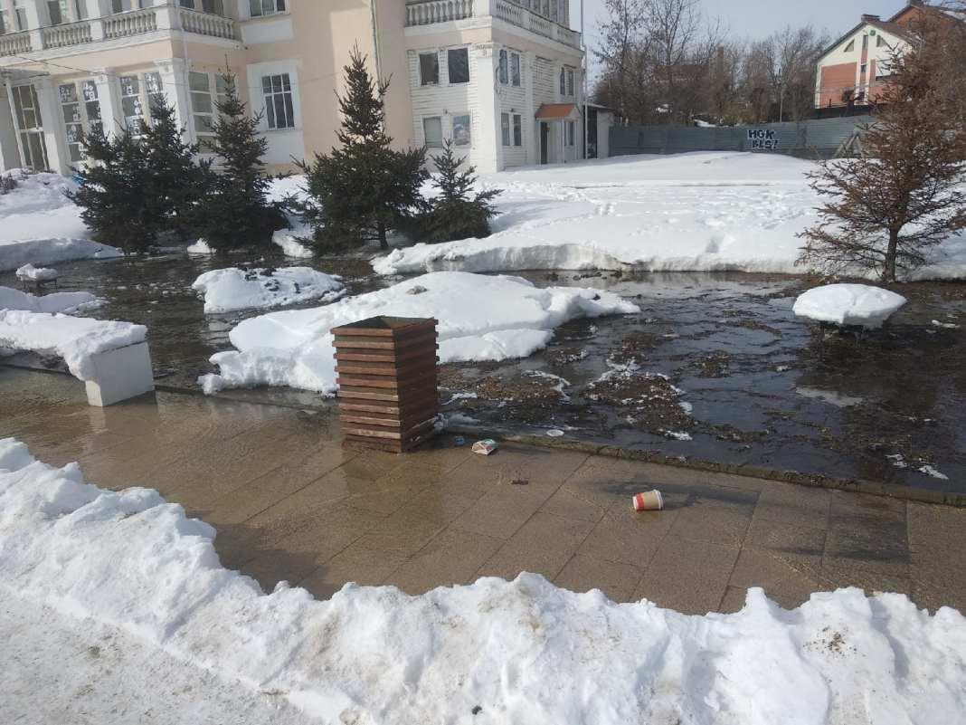 В Рязани на Лыбедском бульваре образовалось озеро