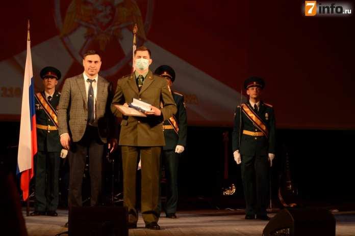 Первый зампредседателя Рязанской областной Думы Дмитрий Хубезов поздравил сотрудников управления Росгвардии