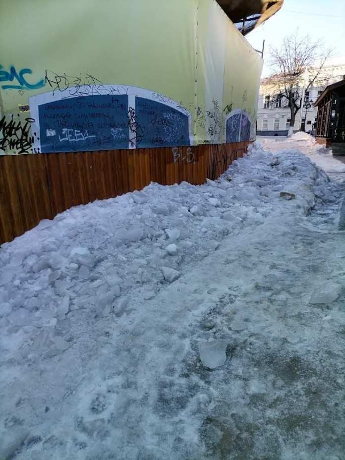 Снежные завалы на улице Мюнстерской в Рязани расчистят 4 марта