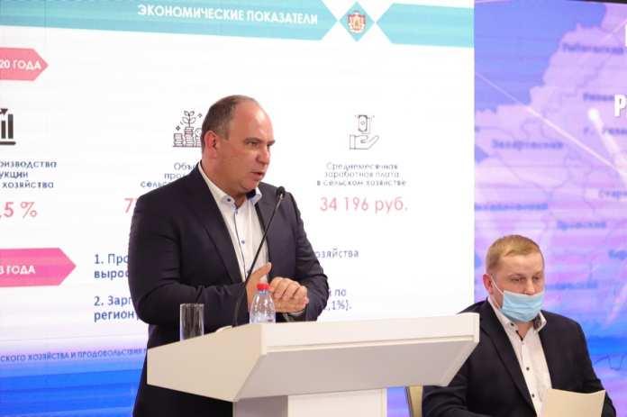 Министр сельского хозяйства Рязанской области отчитался о результатах работы агропромышленного комплекса
