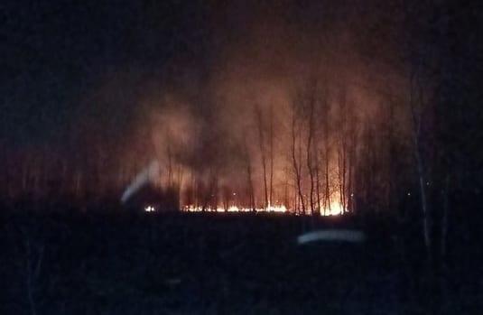 В Рязани горит единственный дом многодетной семьи – соцсети
