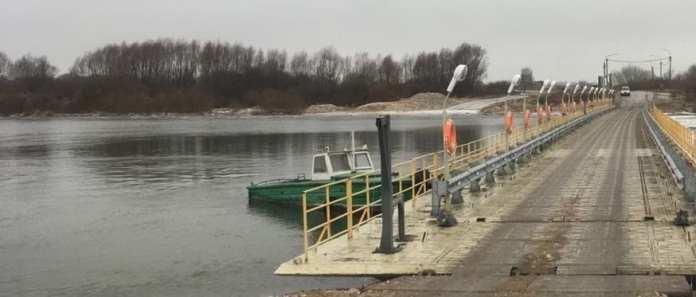 В Рязанской области открыли движение по наплавному мосту через Цну