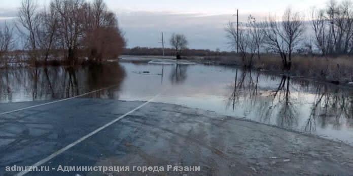 Из-за половодья в Рязани сократили два автобусных маршрута