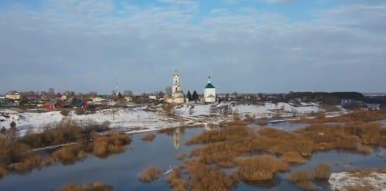 Половодье в Касимовском районе сняли на видео с квадрокоптера