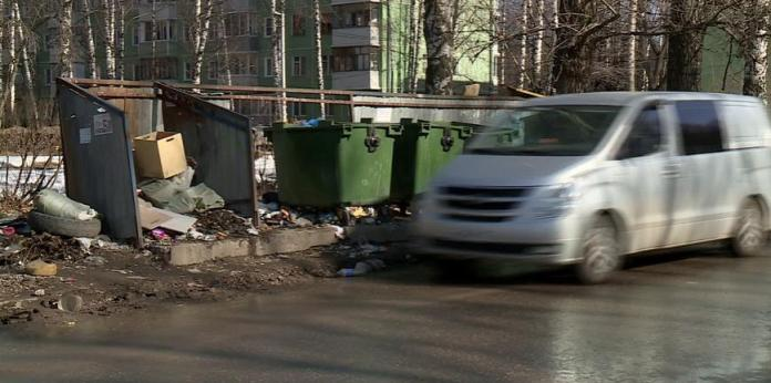 Рязанцы вынуждены выбрасывать мусор с риском для жизни