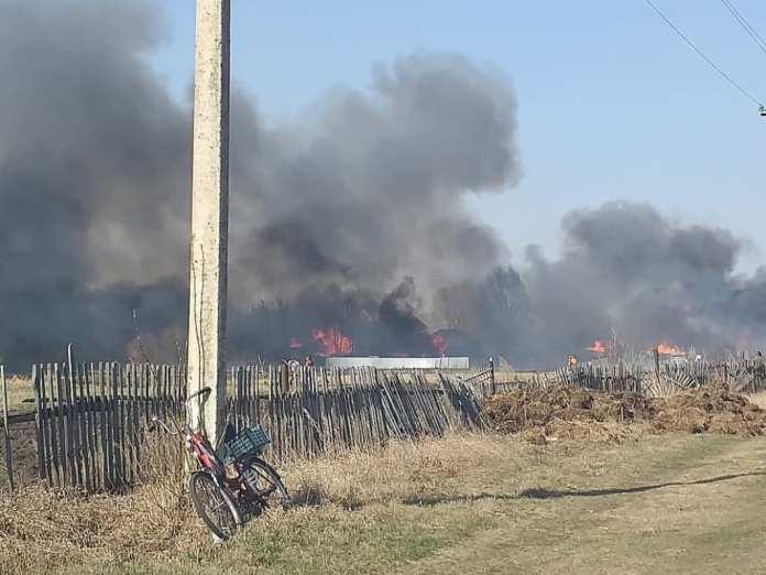 В сасовском селе сгорели семь домов