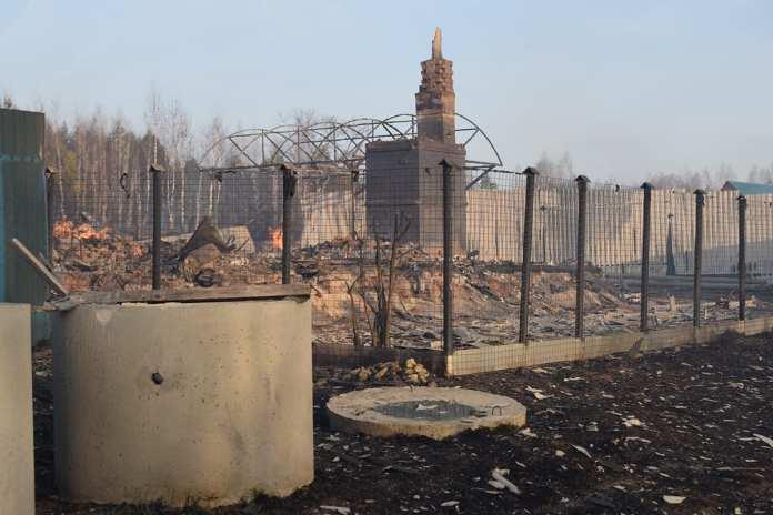 Названа причина пожара, уничтожившего 15 строений в шацкой деревне