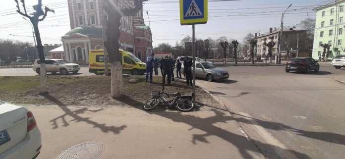 В центре Рязани сбили велосипедиста