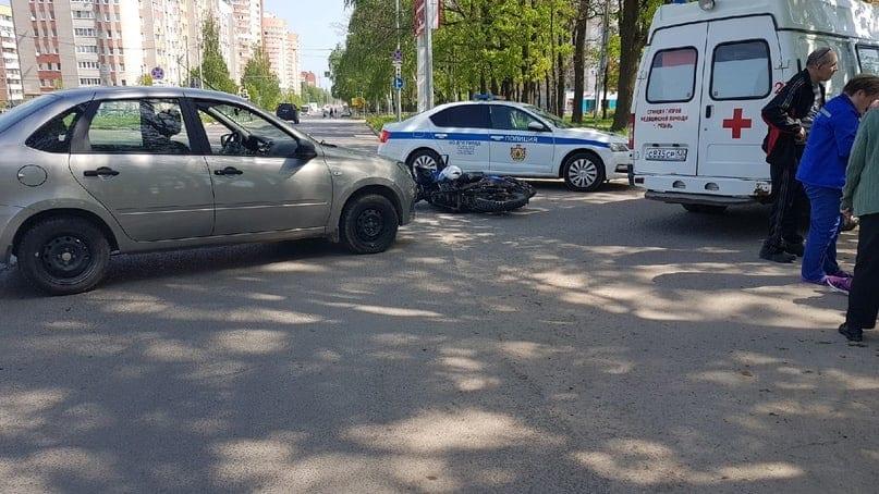 ДТП с мотоциклистом в Дашково-Песочне