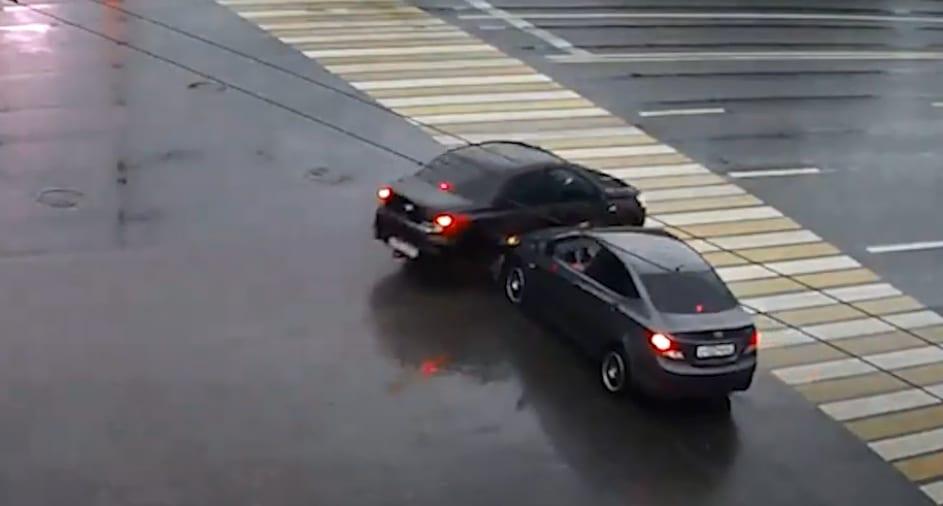 Жёсткое ДТП в центре Рязани попало на видео