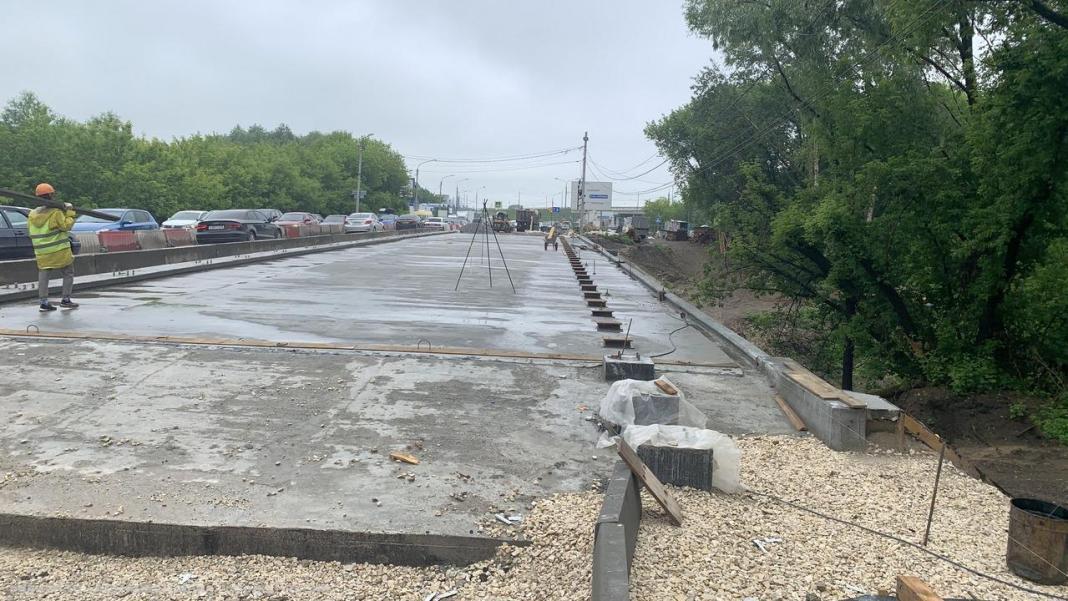 В Рязани приостановили ремонт моста через Трубеж
