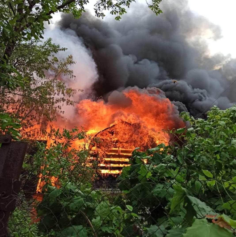 Опубликовано видео с места пожара в дачном товариществе на Станкозаводской