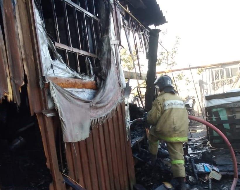 Мужчина погиб на пожаре в Рыбновском районе